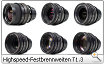 ARRI/Zeiss Highspeed-Festbrennweiten T1.3